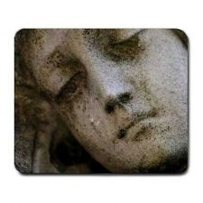 Buy Sad Angel Face Stone Sculpture Art Computer Mouse Pad