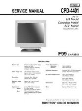 Buy Sony CPD420-1out.eps Service Manual by download Mauritron #239285