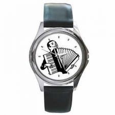 Buy Accordion Player Singer Man Round Wrist Watch