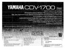 Buy Yamaha CDV-W90 Operating Guide by download Mauritron #247005