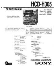 Buy Sony HCD-H305 Manual by download Mauritron #229187