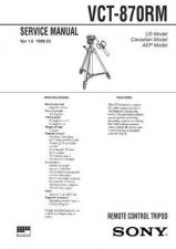 Buy Sony VCT-870RM. Service Manual by download Mauritron #241892