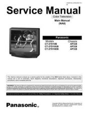 Buy PANASONIC CT27D10B CT27D10B CHASSIS NA8 AP338 SERVICE Manual by download Maurit