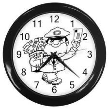 Buy Postman Mail Courier Man Mailman Wall Clock
