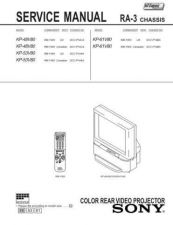 Buy Sony KP-53V45 Service Manual. by download Mauritron #242124