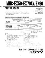Buy Sony MHC-EX90 Manual by download Mauritron #229667