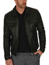 Buy New Men Lambskin Leather Jacket Male Motorcycle Biker Coat Size XS S M L XL K706
