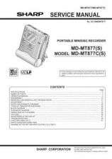 Buy Sharp MDMT877 Service Manual by download Mauritron #209077