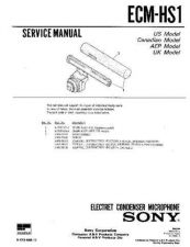 Buy Sony ECM-HS1 Service Manual by download Mauritron #240585