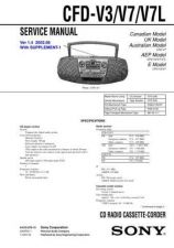 Buy Sony CFD-V3V7V7L. Service Manual by download Mauritron #238848