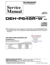 Buy PIONEER DEHP645RW CRT2179 Technical Information by download #119231