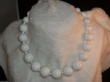 Buy Vintage White Choker style Bead/Strand Necklace graduated beads/christmas