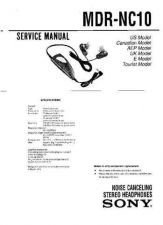 Buy Sony MDR-NC10 Service Manual. by download Mauritron #242601