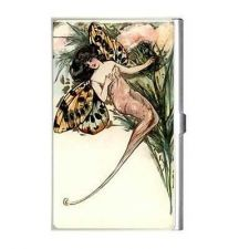 Buy Fairy Butterfly Moth Vintage Art Business Credit Card Holder