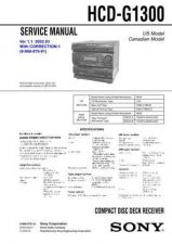 Buy Sony HCD-G1100 Service Manual by download Mauritron #241005