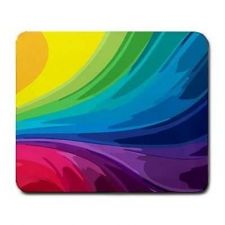 Buy Rainbow Color Pattern Computer Mouse Pad