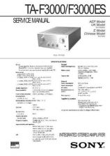 Buy SONY TA-F3000ES SERVICE INFORMATION Manual by download Mauritron #230472