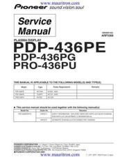 Buy Pioneer PDP-436PC-WAXQ5[1] Service Manual by download Mauritron #235047
