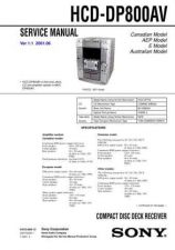 Buy Sony HCD-DP800AV. Technical Information by download Mauritron #235677