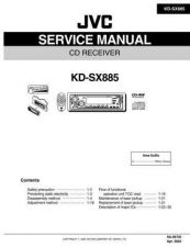 Buy JVC KD-SX885 Service Manual Schematic Circuit. by download Mauritron #271630