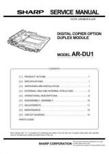 Buy Sharp ARDU2 Service Manual by download Mauritron #208247