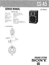 Buy Sony SS-A590 Service Manual. by download Mauritron #244624