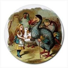 Buy Alice In Wonderland Dodo Art Round Computer Mouse Pad