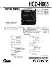 Buy Sony HCD-H605 Manual by download Mauritron #229214