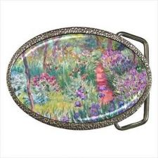 Buy Claude Monet Art Garden Flowers Accessory Belt Buckle