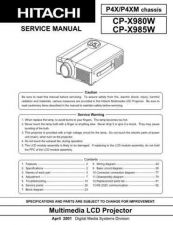 Buy Hitachi CPX980W Service Manual Schematics by download Mauritron #205932