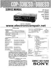 Buy Sony CDP991-manual Service Manual by download Mauritron #244127