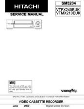 Buy Hitachi VTFX6501AW Service Manual by download Mauritron #265493