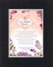 Buy Heartfelt Poem For Mother's Day - A Mother's Hands Rach Out on 8x10 Double Mat