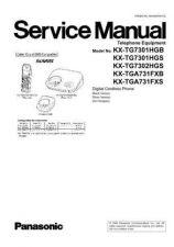 Buy Panasonic KX-TG7301SPB KX-TG7301SPS KX-TG7302SPS KX-TGA730EXB KX-TGA730EXS KX-TGA731E