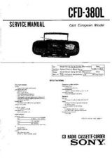 Buy Sony CFD-380L-2 Service Manual by download Mauritron #231737