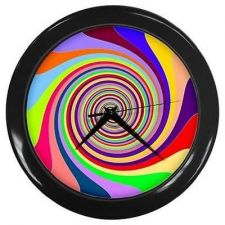 Buy Rainbow Swirl Design Pattern Psychadelic Bar Wall Clock