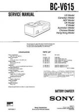 Buy Sony BC-V500 Manual by download Mauritron #228923