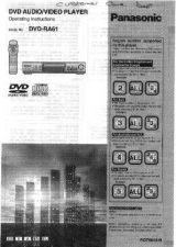 Buy Panasonic DVDRA61 Operating Instruction Book by download Mauritron #235995
