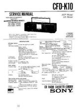 Buy SONY CFDK10 AUDIO WSM 14133 Technical Info by download #104679