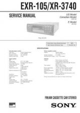 Buy Sony EXR-10-XR-2300 Service Manual by download Mauritron #240646