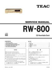 Buy Teac RW-800(EF) Service Manual by download Mauritron #223886