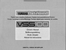 Buy Yamaha VSS100F Operating Guide by download Mauritron #250247