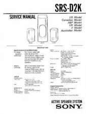 Buy Sony SRS-D2KPC Service Manual. by download Mauritron #244573