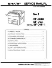 Buy Sharp SF-2040 Service Manual by download Mauritron #231445