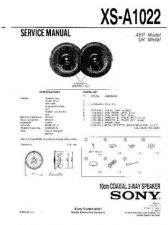 Buy Sony XS-A1022 Service Manual. by download Mauritron #246330