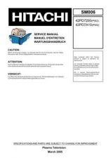Buy HITACHI 42PD7200 SERVICE MANUAL Manual by download Mauritron #230063