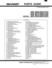 Buy Sharp AR-405 Service Manual by download Mauritron #230983
