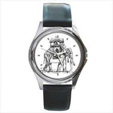 Buy Asian Elephant Caravan Art Unisex Round Wrist Watch