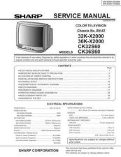 Buy Sharp 32KX2000 Service Manual by download Mauritron #207726