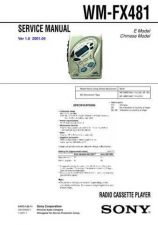 Buy Sony WM-FX477-FX479 Service Manual. by download Mauritron #245819